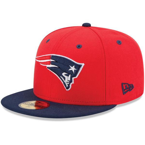 NFL ペイトリオッツ ツートーン 59FIFTY キャップ/帽子 ニューエラ/New Era レッド