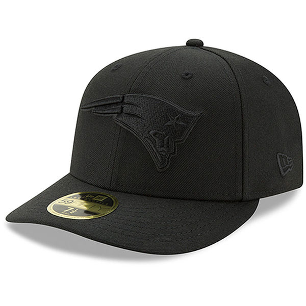 NFL ペイトリオッツ ブラック・オン・ブラック ロープロファイル 59FIFTY キャップ/帽子 ニューエラ/New Era グレー