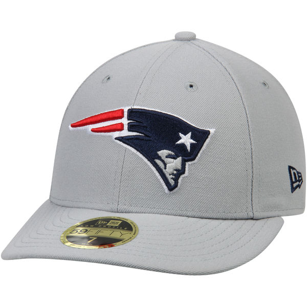 NFL ペイトリオッツ オマハ ロープロファイル 59FIFTY ストラクチャード キャップ/帽子 ニューエラ/New Era グレー