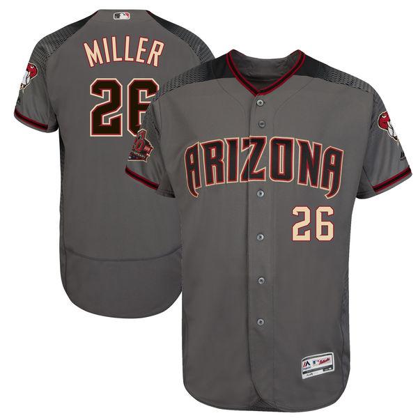 お取り寄せ MLB ダイヤモンドバックス シェルビー・ミラー 20周年記念 パッチ付き オーセンティック ユニフォーム マジェスティック/Majestic ロード