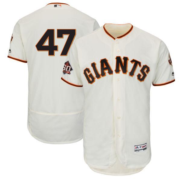 お取り寄せ MLB ジャイアンツ ジョニー・クエト 60周年記念 パッチ付き オーセンティック ユニフォーム マジェスティック/Majestic ホーム
