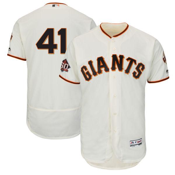 お取り寄せ MLB ジャイアンツ マーク・マランソン 60周年記念 パッチ付き オーセンティック ユニフォーム マジェスティック/Majestic ホーム