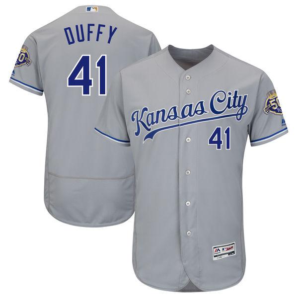 お取り寄せ MLB ロイヤルズ ダニー・ダフィー 50周年記念 パッチ付き オーセンティック ユニフォーム マジェスティック/Majestic ロード