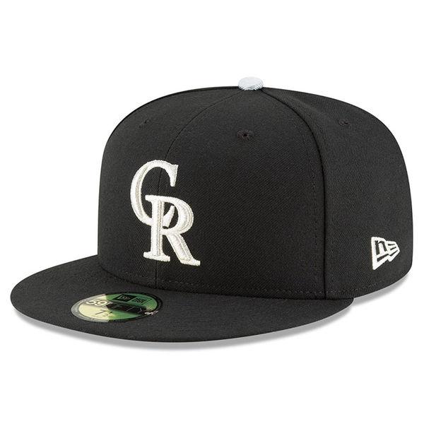 お取り寄せ MLB ロッキーズ 25周年記念 オーセンティック 59FIFTY キャップ/帽子 ニューエラ/New Era ブラック