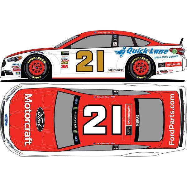 NASCAR ウッド・ブラザーズ・レーシング ポール・メナード 2018 1/24 ダイキャストミニカー フォード・シュージョン Action Racing