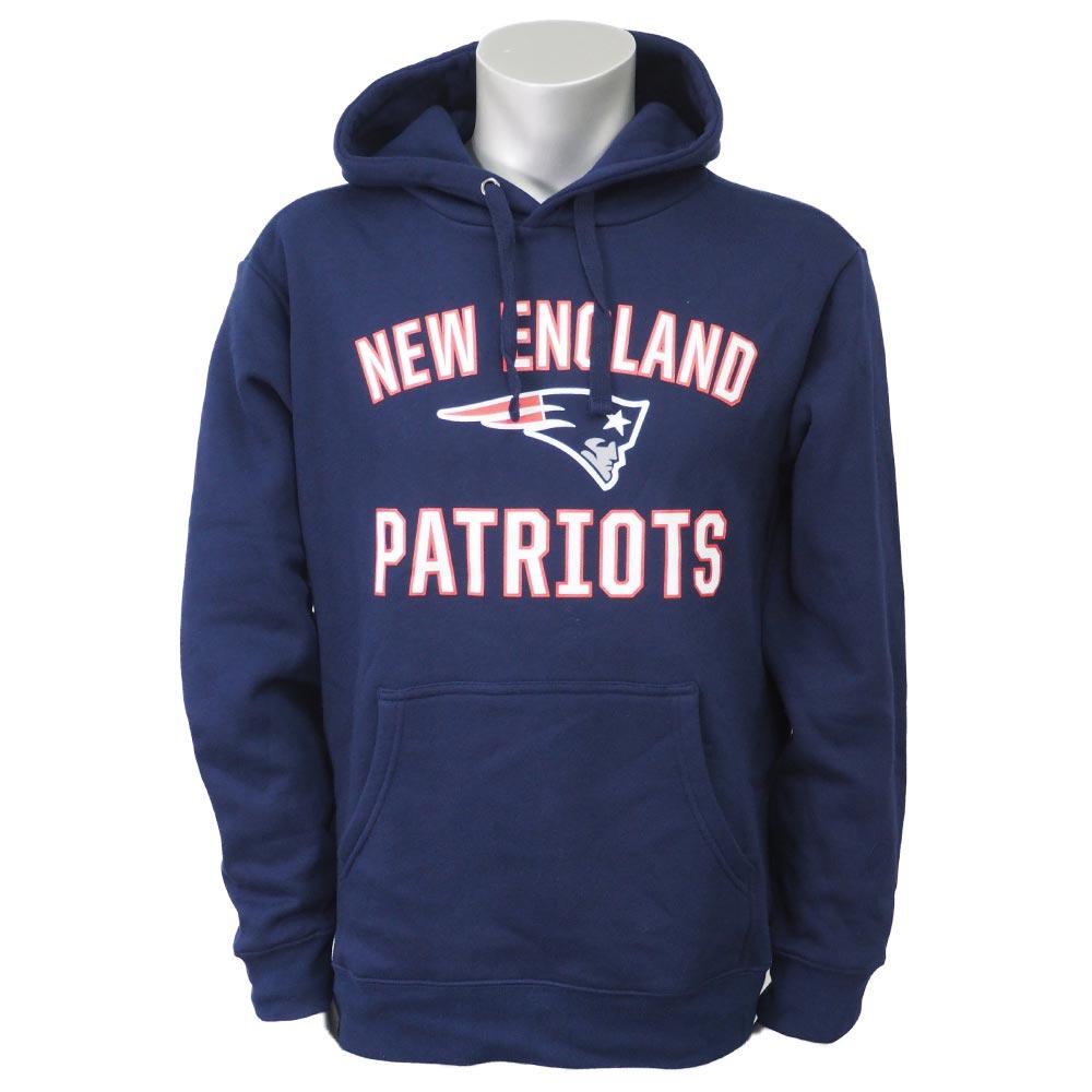 NFL ペイトリオッツ ビクトリー アーチ プルオーバー パーカー ネイビー