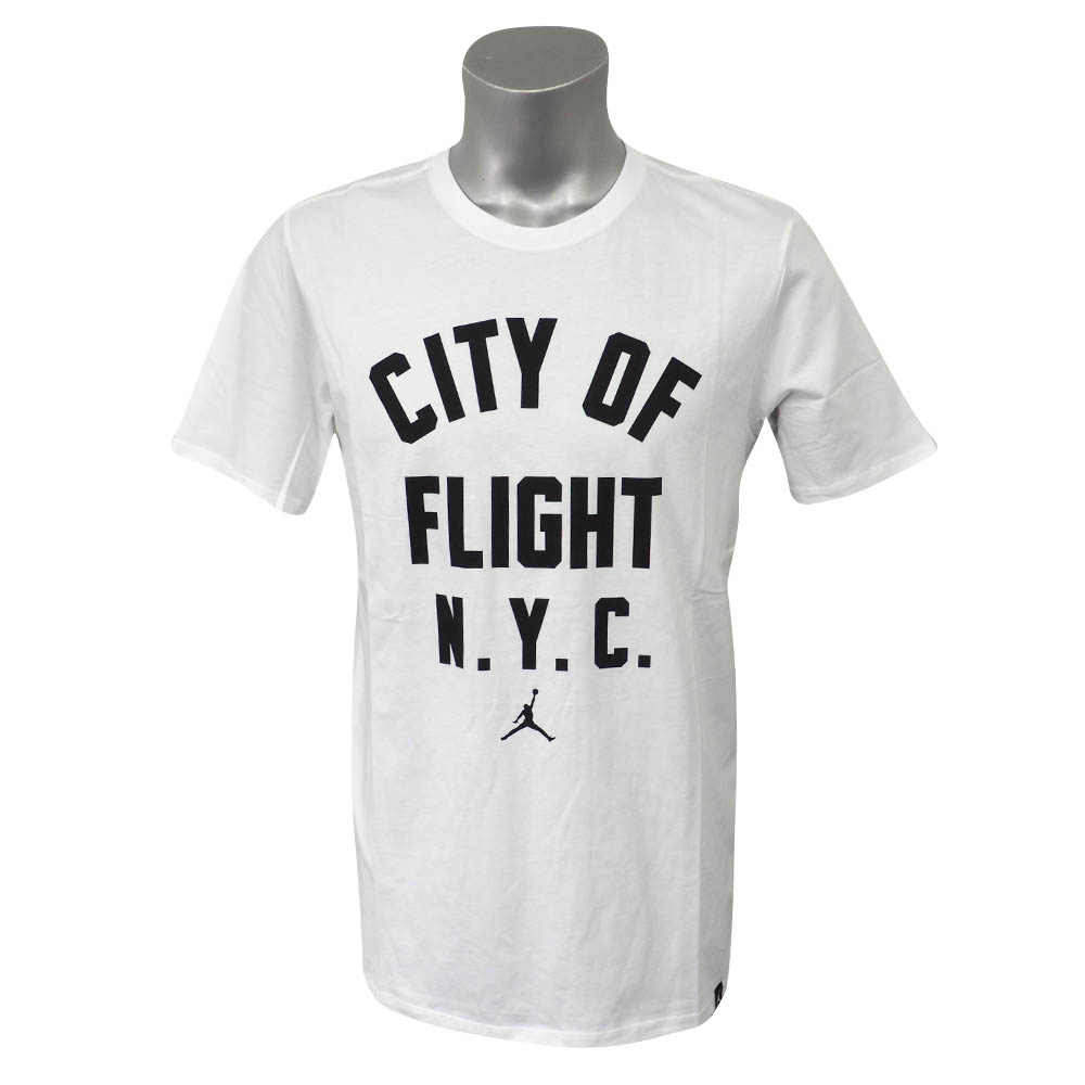 あす楽対応 スポーツもストリートもこれ一枚 ジョーダンTシャツ ジョーダン JORDAN M 当店一番人気 JSW 爆安 シティ WHITE Tシャツ フライト 913019-101 オブ ジップコード BLACK 半袖