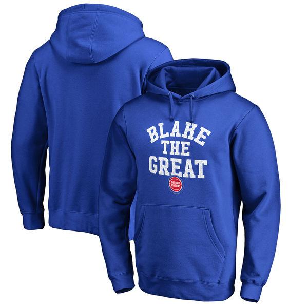 お取り寄せ NBA ピストンズ ブレイク・グリフィン ホームタウン コレクション ブレーク ザ・グレート パーカー ロイヤル