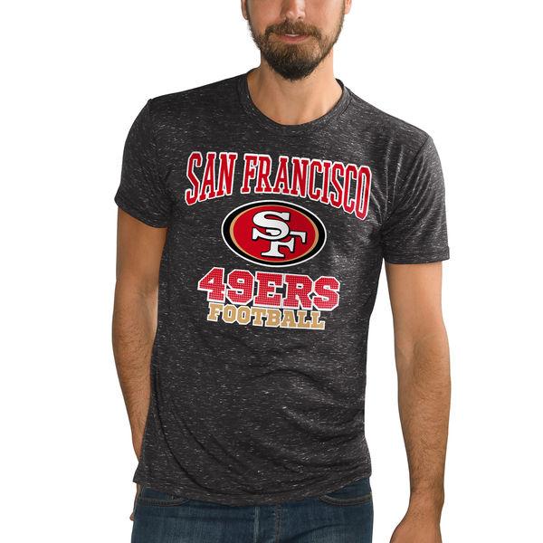 NFL 49ers アウトフィールド スペックル Tシャツ ジースリー/G-III ブラック