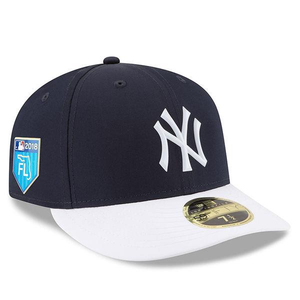 お取り寄せ MLB ヤンキース 2018 スプリング トレーニング プロライト ロープロファイル 59FIFTY フィッテッド キャップ/帽子 ニューエラ/New Era ネイビー
