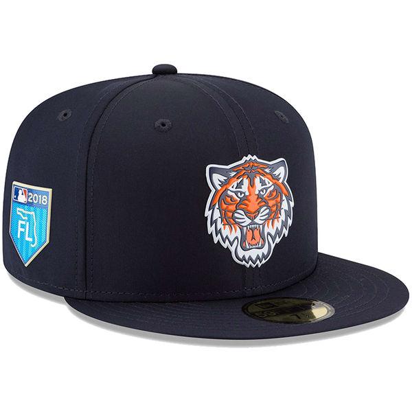 お取り寄せ MLB タイガース 2018 スプリング トレーニング プロライト 59FIFTY フィッテッド キャップ/帽子 ニューエラ/New Era ネイビー