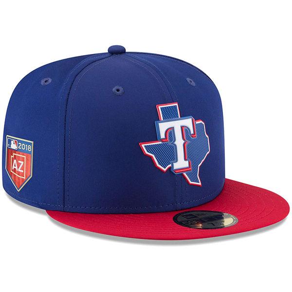 お取り寄せ MLB レンジャーズ 2018 スプリング トレーニング プロライト 59FIFTY フィッテッド キャップ/帽子 ニューエラ/New Era ネイビー