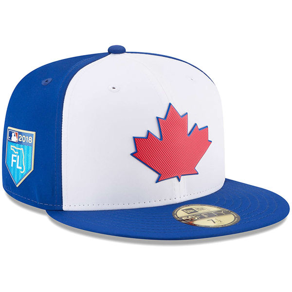 お取り寄せ MLB ブルージェイズ 2018 スプリング トレーニング プロライト 59FIFTY フィッテッド キャップ/帽子 ニューエラ/New Era ホワイト