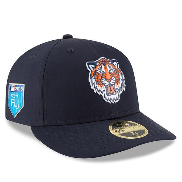 お取り寄せ MLB タイガース 2018 スプリング トレーニング プロライト ロープロファイル 59FIFTY フィッテッド キャップ/帽子 ニューエラ/New Era ネイビー