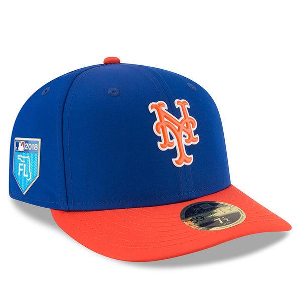 お取り寄せ MLB メッツ 2018 スプリング トレーニング プロライト ロープロファイル 59FIFTY フィッテッド キャップ/帽子 ニューエラ/New Era ブルー