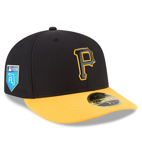 お取り寄せ MLB パイレーツ 2018 スプリング トレーニング プロライト ロープロファイル 59FIFTY フィッテッド キャップ/帽子 ニューエラ/New Era ブラック