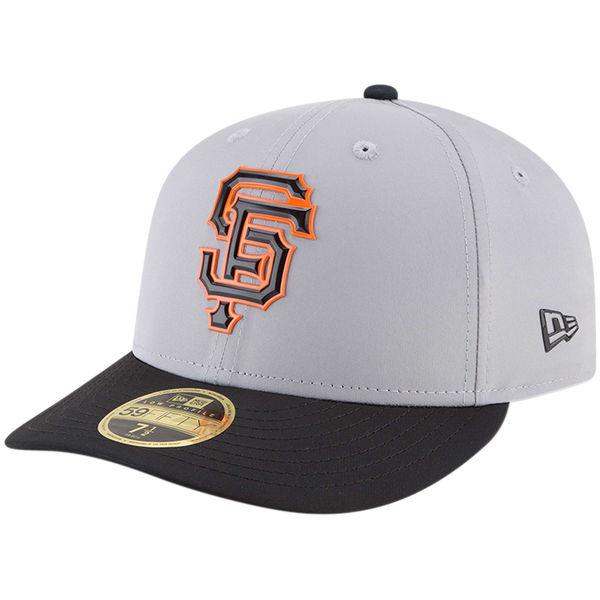 お取り寄せ MLB ジャイアンツ 2018 スプリング トレーニング プロライト ロープロファイル 59FIFTY フィッテッド キャップ/帽子 ニューエラ/New Era グレー