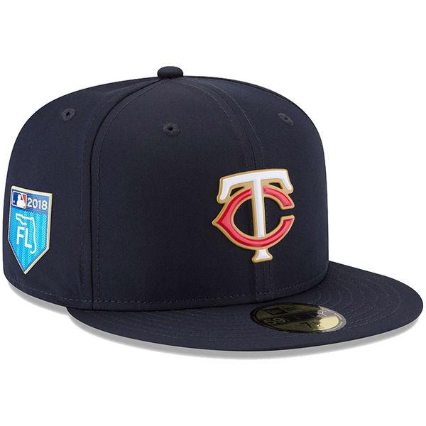 お取り寄せ MLB ツインズ 2018 スプリング トレーニング プロライト 59FIFTY フィッテッド キャップ/帽子 ニューエラ/New Era ネイビー
