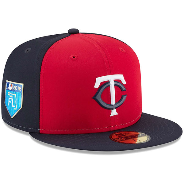 お取り寄せ MLB ツインズ 2018 スプリング トレーニング プロライト 59FIFTY フィッテッド キャップ/帽子 ニューエラ/New Era レッド