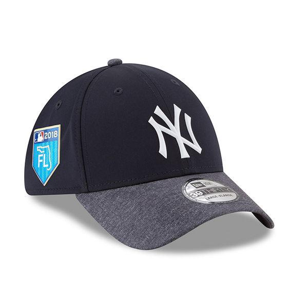 お取り寄せ MLB ヤンキース 2018 スプリング トレーニング プロライト 39THIRTY フレックス キャップ/帽子 ニューエラ/New Era ネイビー