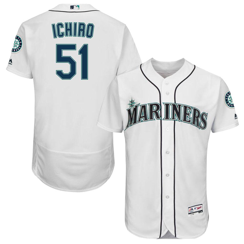 MLB マリナーズ イチロー 選手着用 フレックスベース オーセンティック プレイヤー ユニフォーム/ジャージ マジェスティック/Majestic ホーム