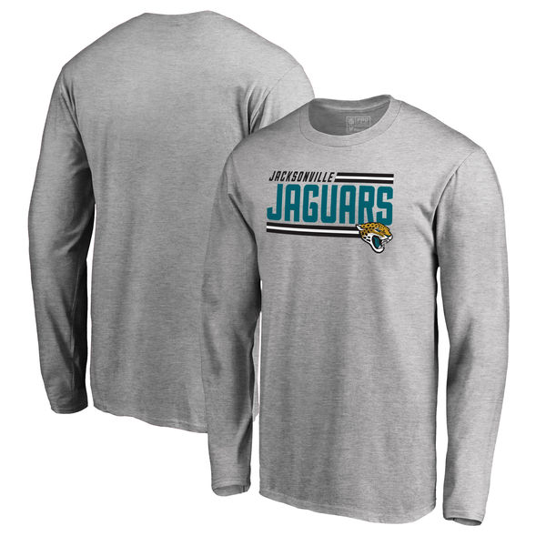 NFL ジャガーズ アイコニック コレクション ストライプ ロングTシャツ アッシュ