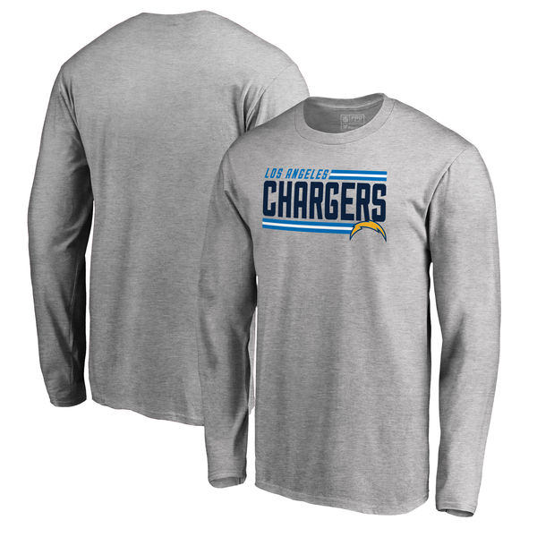 NFL チャージャーズ アイコニック コレクション ストライプ ロングTシャツ アッシュ