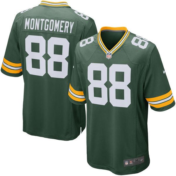 お取り寄せ NFL パッカーズ タイ・モントゴメリー ゲーム ユニフォーム/ユニホーム レプリカ ナイキ/Nike グリーン