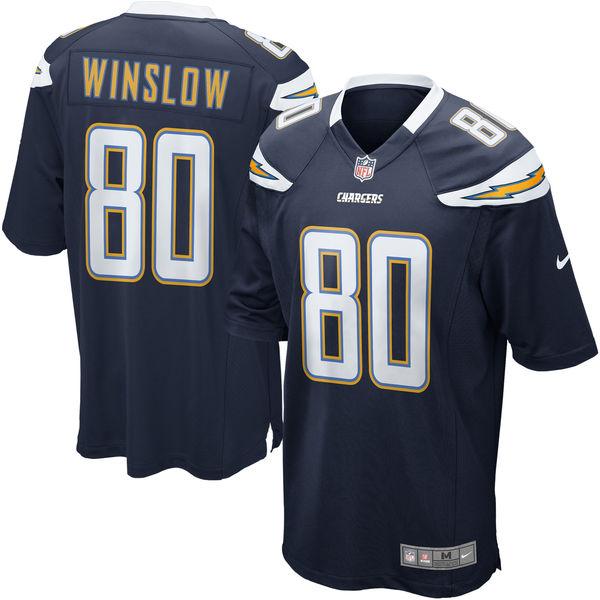 お取り寄せ NFL チャージャース ケレン・ウィンズロウ リタイアド プレイヤー ゲーム ユニフォーム/ユニホーム ナイキ/Nike ネイビー