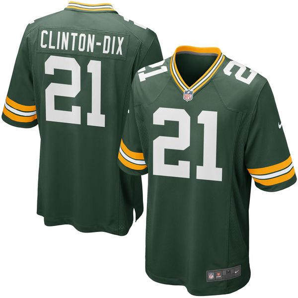NFL パッカーズ ハハ・クリントンディックス ゲーム ユニフォーム/ユニホーム レプリカ ナイキ/Nike グリーン