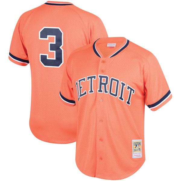 お取り寄せ MLB タイガース アラン・トランメル クーパーズタウン メッシュ バッティングプラクティス ユニホーム Mitchell & Ness