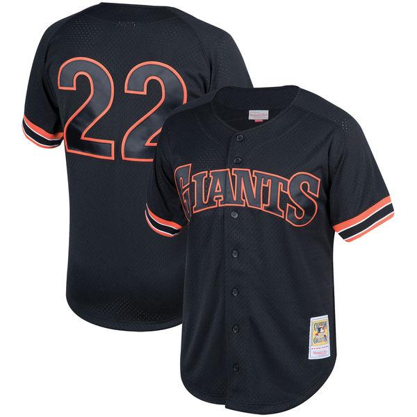 お取り寄せ MLB ジャイアンツ ウィル・クラーク クーパーズタウン メッシュ バッティングプラクティス ユニホーム Mitchell & Ness