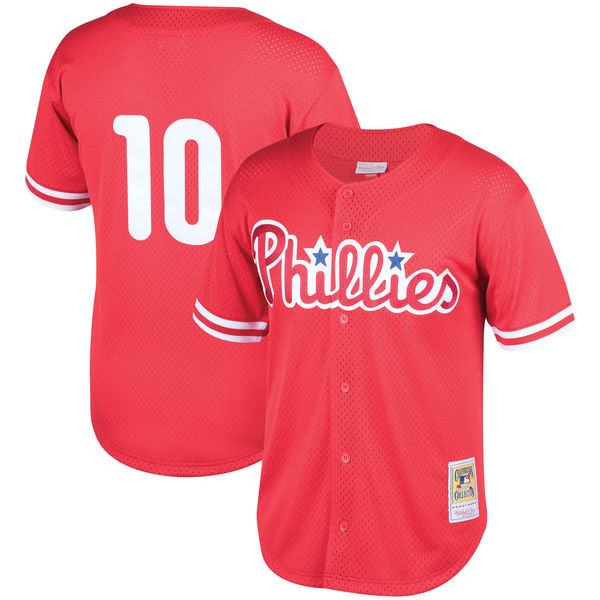 お取り寄せ MLB フィリーズ ダレン・ドールトン クーパーズタウン メッシュ バッティングプラクティス ユニホーム Mitchell & Ness