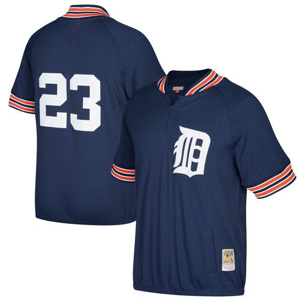 お取り寄せ MLB タイガース カーク・ギブソン クーパーズタウン バッティングプラクティス クオータージップ ユニホーム Mitchell & Ness