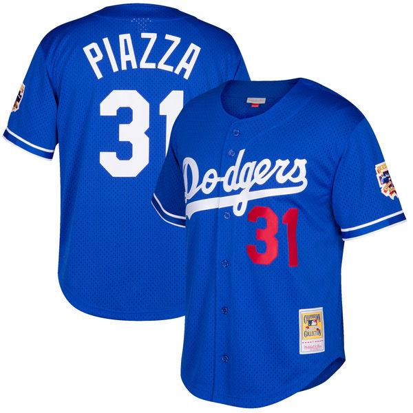 お取り寄せ MLB ドジャース マイク・ピアザ クーパーズタウン メッシュ バッティングプラクティス ユニホーム Mitchell & Ness