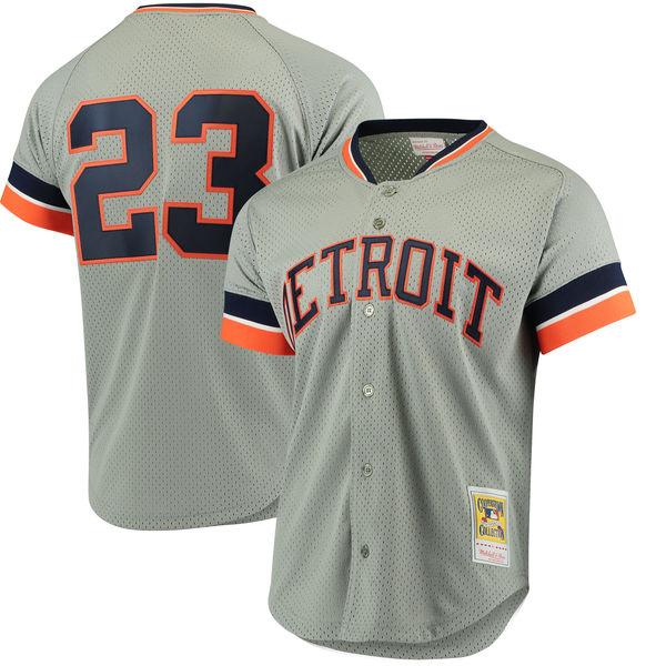 お取り寄せ MLB タイガース カーク・ギブソン クーパーズタウン メッシュ バッティングプラクティス ユニホーム Mitchell & Ness
