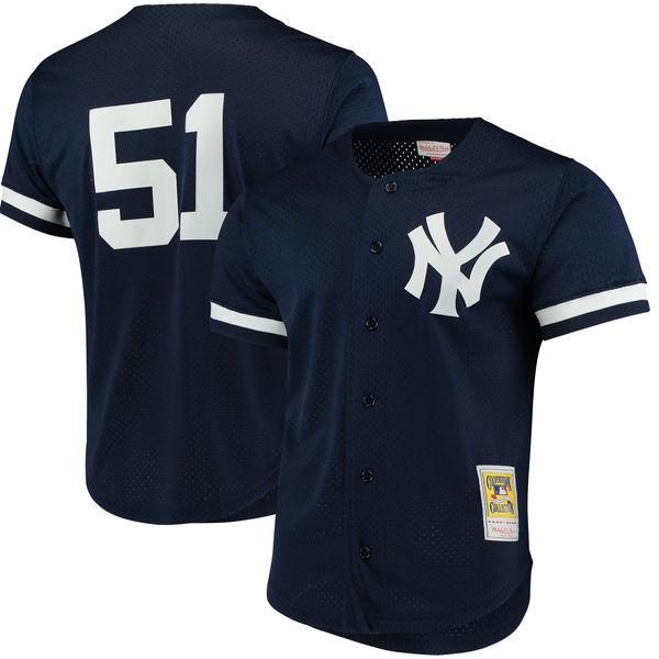 お取り寄せ MLB ヤンキース バーニー・ウィリアムス クーパーズタウン メッシュ バッティングプラクティス ユニホーム Mitchell & Ness