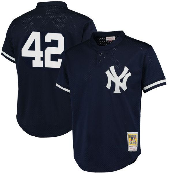 お取り寄せ MLB ヤンキース マリアノ・リベラ クーパーズタウン メッシュ バッティングプラクティス ユニホーム Mitchell & Ness