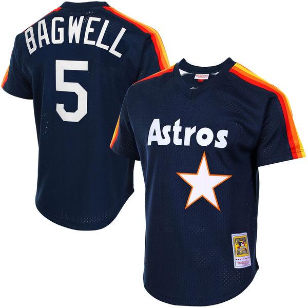 お取り寄せ MLB アストロズ ジェフ・バグウェル クーパーズタウン メッシュ バッティングプラクティス ユニホーム Mitchell & Ness