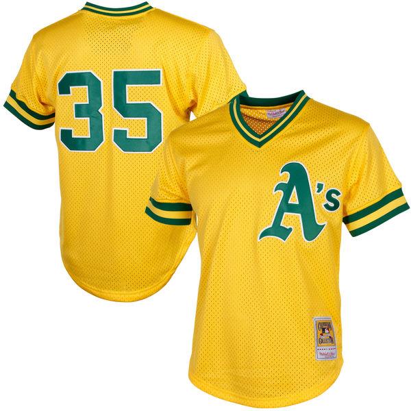 お取り寄せ MLB アスレチックス リッキー・ヘンダーソン クーパーズタウン メッシュ バッティングプラクティス ユニホーム Mitchell & Ness