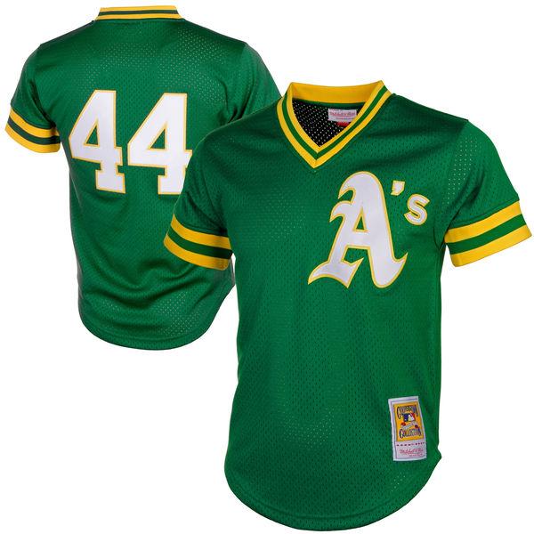 お取り寄せ MLB アスレチックス レジー・ジャクソン クーパーズタウン メッシュ バッティングプラクティス ユニホーム Mitchell & Ness