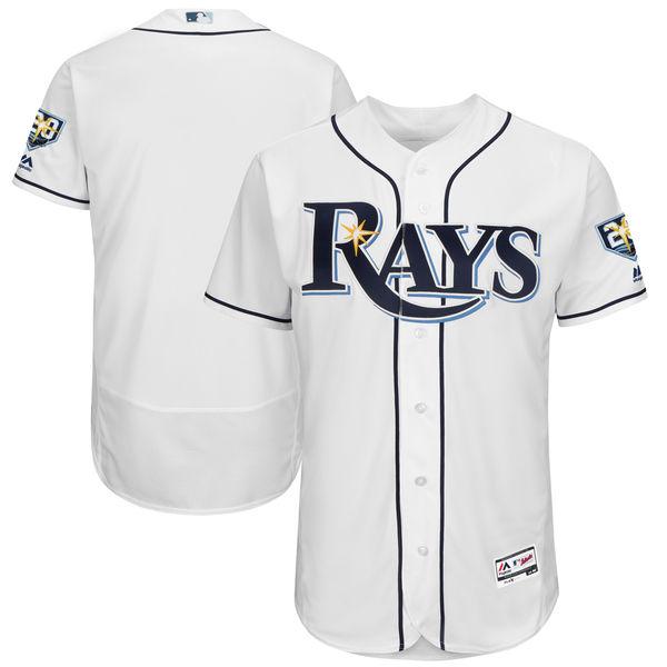 お取り寄せ MLB レイズ 20周年記念パッチ付き 選手着用モデル ユニフォーム/ユニホーム マジェスティック/Majestic ホーム