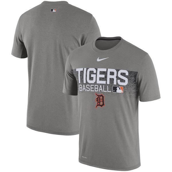 お取り寄せ MLB タイガース 選手着用 オーセンティック レジェンド チーム イシュード パフォーマンス Tシャツ ナイキ/Nike グレー