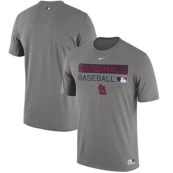 お取り寄せ MLB カージナルス 選手着用 オーセンティック レジェンド チーム イシュード パフォーマンス Tシャツ ナイキ/Nike ヘザーグレー