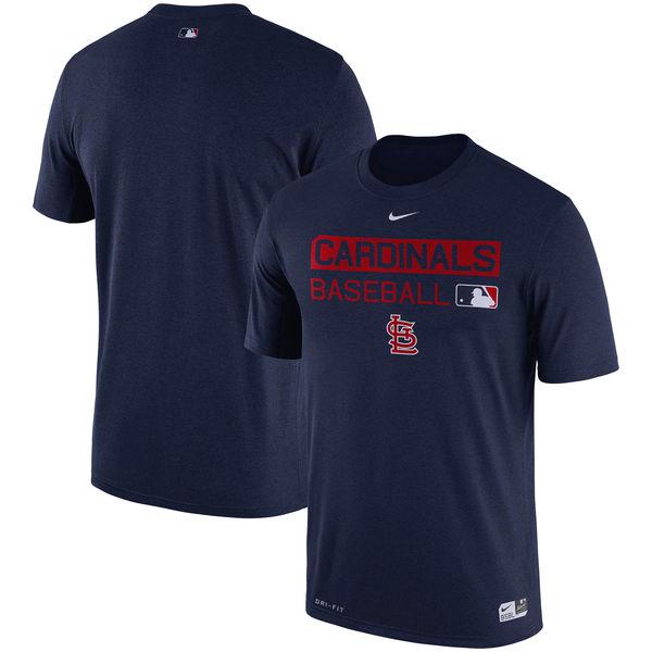 お取り寄せ MLB カージナルス 選手着用 オーセンティック レジェンド チーム イシュード パフォーマンス Tシャツ ナイキ/Nike ネイビー