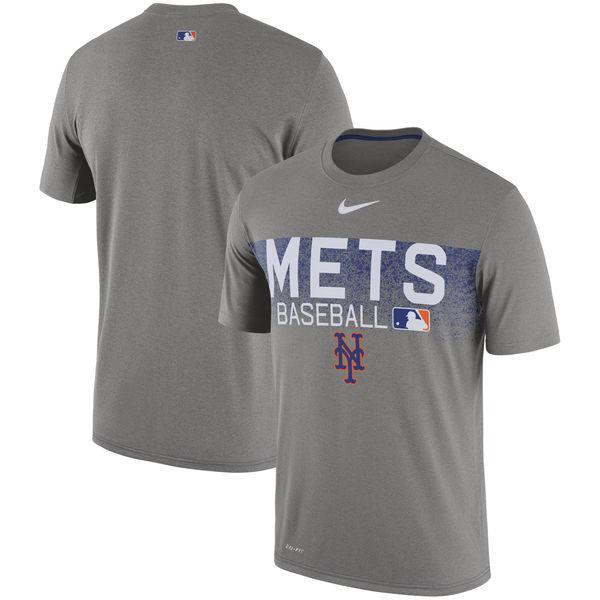 お取り寄せ MLB メッツ 選手着用 オーセンティック レジェンド チーム イシュード パフォーマンス Tシャツ ナイキ/Nike グレー