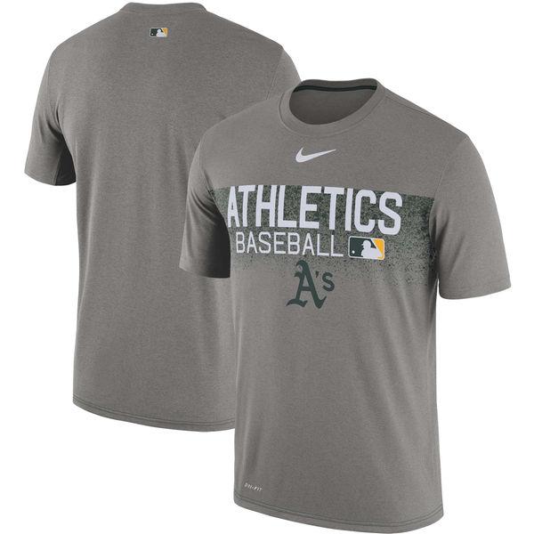 お取り寄せ MLB アスレチックス 選手着用 オーセンティック レジェンド チーム イシュード パフォーマンス Tシャツ ナイキ/Nike グレー