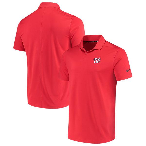 お取り寄せ MLB ナショナルズ ソリッド ヴィクトリー パフォーマンス ポロシャツ ナイキ/Nike レッド
