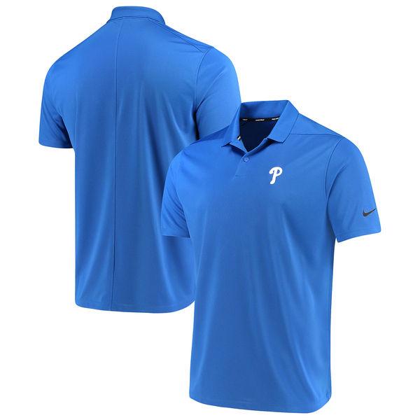 お取り寄せ MLB フィリーズ ソリッド ヴィクトリー パフォーマンス ポロシャツ ナイキ/Nike ロイヤル