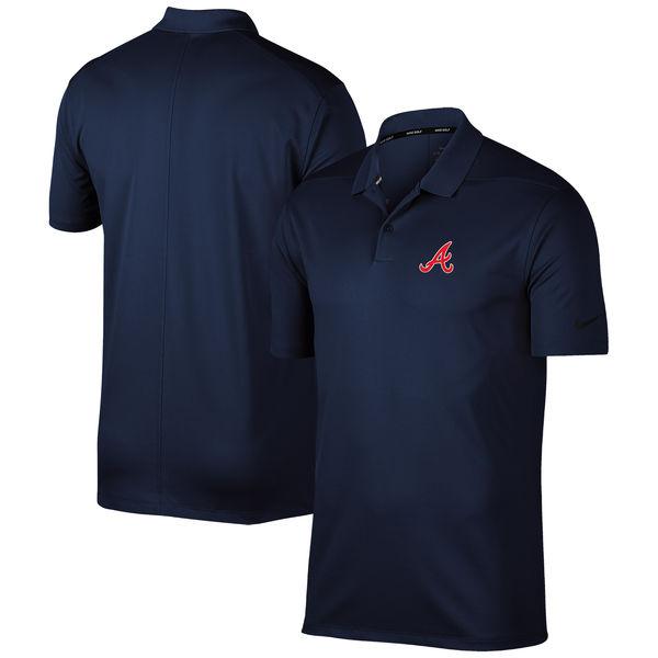お取り寄せ MLB ブレーブス ソリッド ヴィクトリー パフォーマンス ポロシャツ ナイキ/Nike ネイビー
